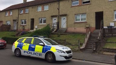 Alert: The bomb squad were called to Kirkton Avenue in High Blantyre, South Lanarkshire.