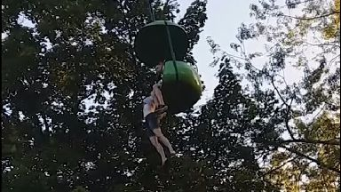 'It's OK to let go,' man catches 14-year-old girl falling from ride