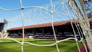 Hearts main stand before the restructure, May 2017