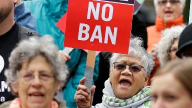 Mr Trump's travel ban will largely be allowed to go ahead