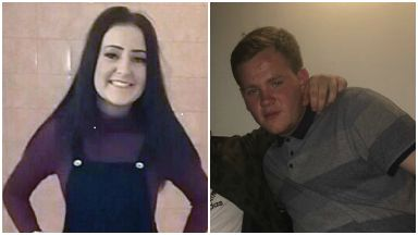Paige Docherty and Aaron Keenan, her cousin who died near Kilpatrick train station on railway line.
