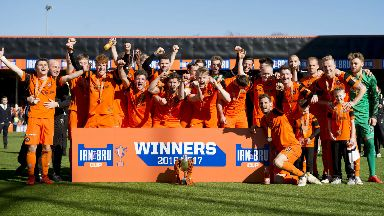 Dundee United won the 2016/17 Challenge Cup with a 2-1 win over St Mirren.