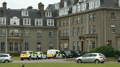 Police at Gleneagles Hotel after armed robbery at Mappin and Webb