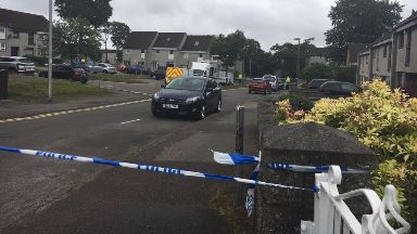 Investigation: Cornhill Terrace in Aberdeen has been cordoned off.