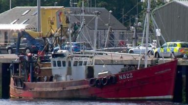 Sea Harvester Prawn Trawler after serious accident in Forth of Clyde