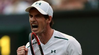 Murray: Dramatic Fognini match had Centre Court's nerves jangling.