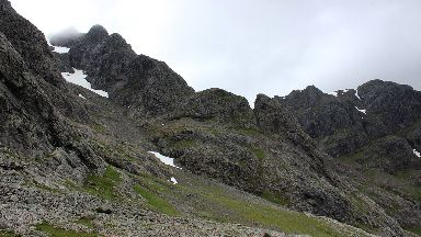 Tower Ridge on the north east face of Ben Nevis