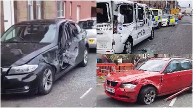 Musselburgh: A trail of destruction was left after the crash near North High Street.