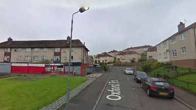 Oxford Road: A manhunt has been launched after the stabbing in Greenock.