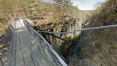 Corrieshalloch Gorge: Dundonnell Mountain Rescue Team was called following the discovery.