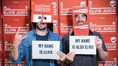 BrewDog founders James Watt and Martin Dickie after changing names to Elvis