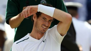 Andy Murray: Injury flared up at Wimbledon (file pic).