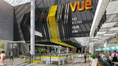 Artists impression of new Vue cinema at Glasgow's St Enoch centre