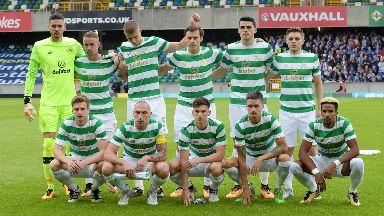 Celtic team to play Linfield away, July 2017