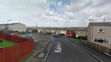 Kaimes Avenue: The fire in Kirknewton caused extensive damage.