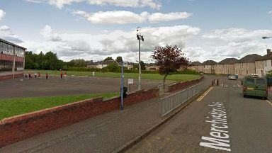 Merchiston Avenue in Falkirk, where a 14yo boy was punched.