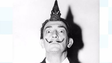 Salvador Dali's famous moustache remains as it was when he was buried.