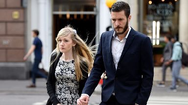 Connie Yates and Chris Yard arrive at court on Friday.