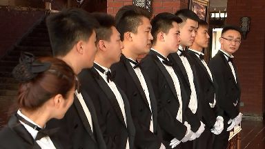 Having a butler in China is now seen to be the ultimate status symbol.