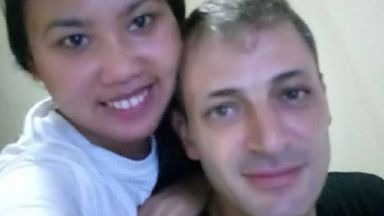 Tarek Naggar and fiancee Angie. He was shot in Cebu in the Philippines. Picture from a Go Fund Me.