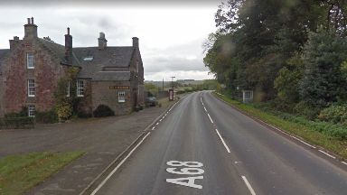 A68: Officers have shut the road at Fala Village in Midlothian.