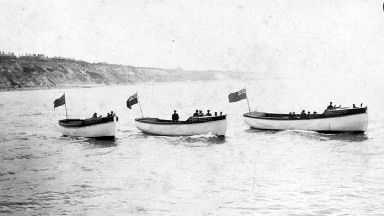 Three Skylark launches, boats which took part in the Little Ships flotilla at Dunkirk