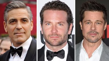 The world's most handsome men? George Clooney, Bradley Cooper and Brad Pitt