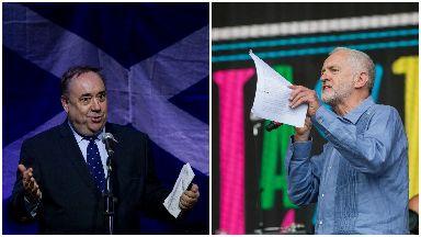 Alex Salmond and Jeremy Corbyn