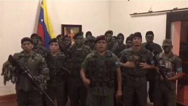 Men claiming to be members of the Venezuelan military called on military units to rebel against Maduro's government