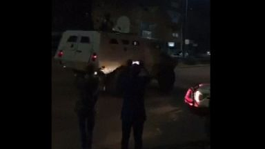 Armoured vehicles were seen in the area.