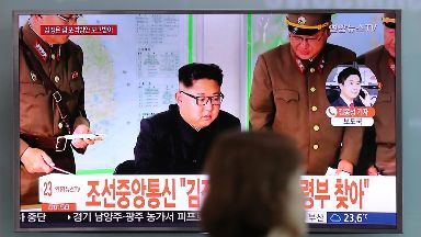 Kim Jong-un threatened to fire missiles just off Guam.