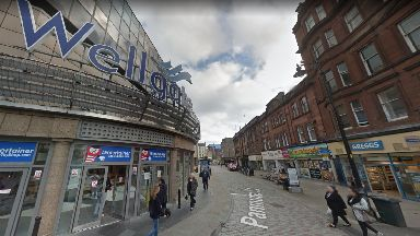 Dundee: The man was taken to hospital after attack. Wellgate Shopping Centre