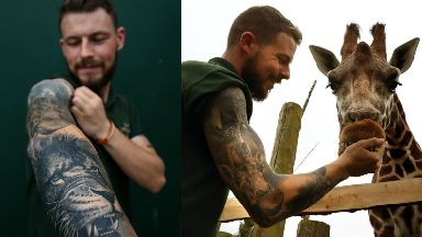 Graeme Alexander animal tattoo