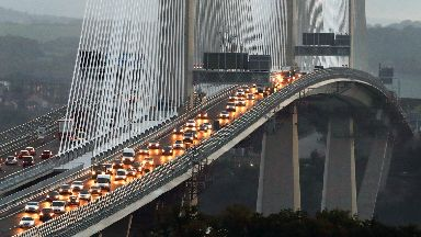 Traffic flows on both carriageways of the Queensferry Crossing this morning after it opened to traffic for the first time. August 30 2017