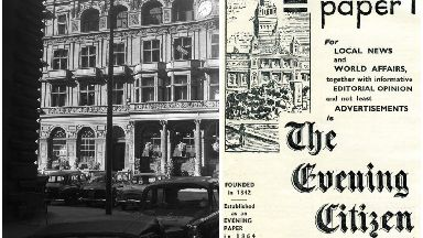 The Citizen Newspaper was one of three newspapers to be printed published and distributed in Glasgow