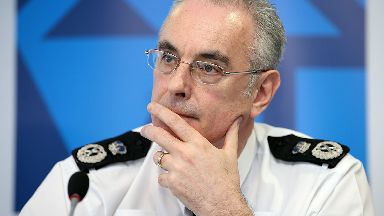 Police Scotland's Chief Constable Phil Gormley at the launch in Edinburgh of a long-term strategy for policing and a public consultation to help shape it.