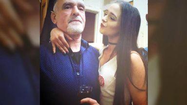 Poppy Mackenzie with her dad Billy.