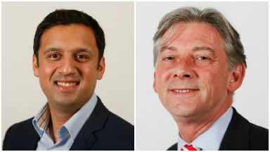 Collage of Anas Sarwar and Richard Leonard, Scottish Labour leadership contenders.