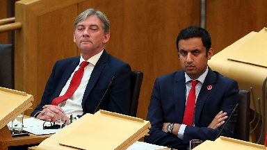 Labour MSPs Anas Sarwar and Richard Leonard