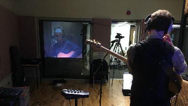 Low latency album recording on opposite sides of the atlantic. Edinburgh Napier.