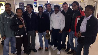 Malaviya Seven crew at Aberdeen Airport on 21/9/17