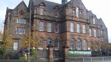 Broughton: Classroom cordoned off while repairs made. Broughton Primary School in Edinburgh.