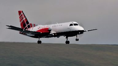 Loganair: Other planes forced to divert. Loganair Edinburgh