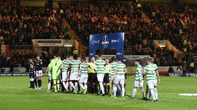 Football: Seven people also ejected for smoking. Dundee Celtic Betfred Cup