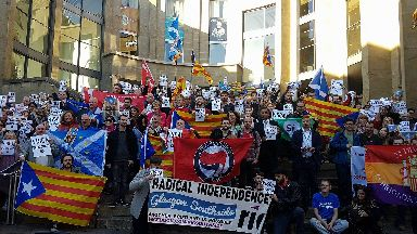 Pro-Catalan protest in Glasgow. Could work as a generic in future.