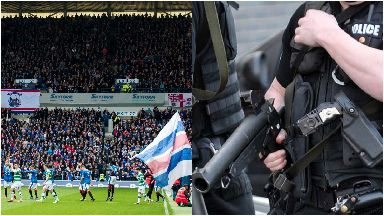Football: Increased bag searches also in place. Ibrox Rangers Celtic