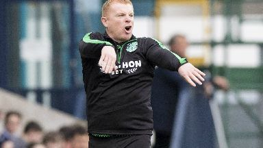 Frustration: Lennon says Hibs can be better.