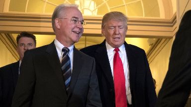 Tom Price (left) and Donald Trump