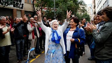 voters celebrate