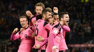 Scotland celebrate, Oct 2017